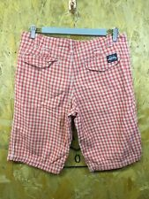 SUPERDRY, Mens Size S, Red Check, Mid Length, Casual Shorts,*EX COND*