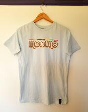 Mossimo Womens Size M Light blue Short Sleeve retro look Graphic logo top