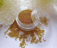 Tiny 5ml Gold Caviar Beads Metal Balls Gem Pot Round Wedding Nail Art Craft