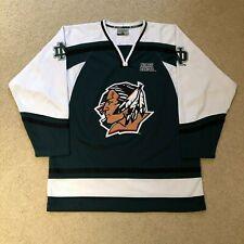 Rare North Dakota Fighting Sioux Hockey Jersey Colosseum Green Large UND NCAA