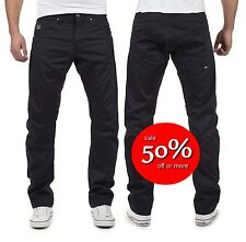 SAVE 50%! Jack Jones Mens Dale Colin Twisted Leg Chino Jeans Black W30 L34