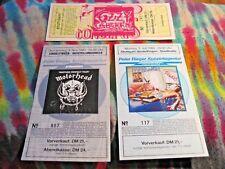 MOTORHEAD '83 or OZZY '83 or MARILLION '84 - GERMAN TICKETS - $9.99 ea. - K @@ L