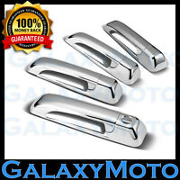 Triple Chrome 4 Door Handle With Keyhole Cover fit 05-11 Jeep Grand Cherokee