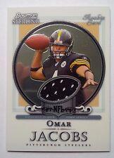 2006 Bowman Sterling Omar Jacobs Pittsburgh Steelers Bowling Green GU Jersey
