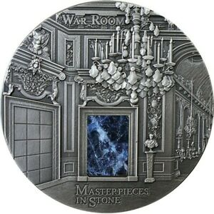 The War Room Masterpieces in Stone 3oz Antique finish Silver Coin 10$ Fiji 2018