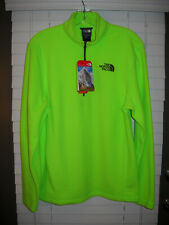 Nwt The North Face Men Size Small Tka 100 Glr 1/4 Zip Power Green Fleece Top $55