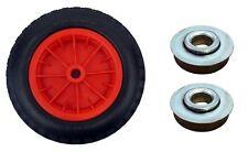 """Pu 16"""" crevaison preuve rouge brouette 12 mm roulements à rouleaux pneumatique 4.80 - 8 roue"""