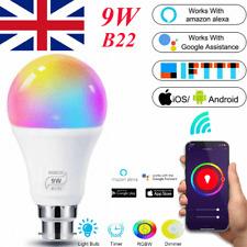 9W B22 Smart Light Bulb RGB Colour Light WiFi App Control with Alexa and Google