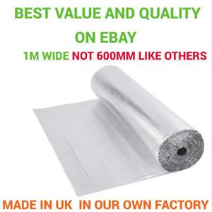 Per Metre 1m Wide single Foil Insulation Aluminium Bubble Shed Loft Attic Van