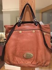 Authentic Mulberry Mitzy Messenger Tote Pebbled Oak Bag.