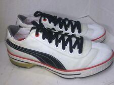 Puma Club 917 Golf Shoes - Mens White/Black/Fiery Red 185227 Size 11
