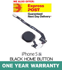 iPhone 5S Home Button Flex Cable Finger Fingerprint Scanner Sensor Black OEM New
