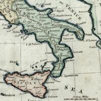 Italy Italia Best Authorities 1788 old antique map nice hand color Borri #233A