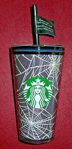 Starbucks Halloween GLOW IN THE DARK Spider Web Grande Tumbler COLD CUP Stickers