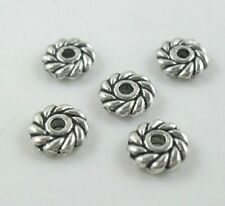 60Pcs Tibetan Silver Small Daisy Spacer Beads 6mm  (Lead-free)
