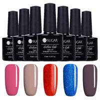 5 Flaschen/Set 7.5ml Blue Rot Soak off Nail Art UV Gellack Varnish DIY UR SUAGR