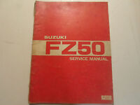1980 Suzuki FZ50 Service Repair Shop Manual WORN DAMAGED FACTORY OEM BOOK 80