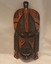Vintage Carved Wooden African Tribal Mask - Wall Hanging