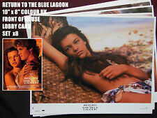 "RARE VINTAGE 10""x8"" UK FOH LOBBY CARD STILL SET(x8) - RETURN TO THE BLUE LAGOON"