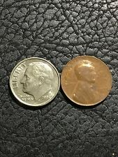 1938 LINCOLN WHEAT CENT ERROR - THIN (2.4g) DIME SIZE - SEE ALL PICS! - INV#5632