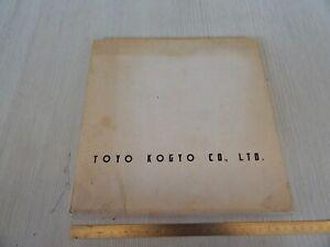 MATERIALE STAMPA ONLY PRESS ORIGINALE 1962 MAZDA TOYO KOGYO 360 600 1500 1100