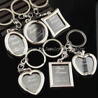 Photo Frame Keyring Silver Metal Keychain Gifts For Him Her Mum Dad Key Chain