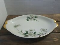 "Vintage Meito Norleans China Dogwood Blossoms 17"" Serving Platter Made in Japan"
