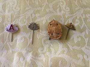 4 Anzac Day Badges all Different. Preloved. Very good condition
