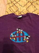 Vintage 90s Mickey Mouse Embroidered T Shirt Purple Supreme XL