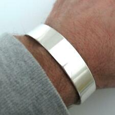 Shiny Wide Silver Cuff Bracelet For Men. Men's Solid Sterling Silver bracelet