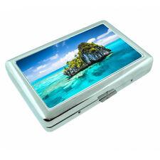 Fiji Islands D1 Silver Metal Cigarette Case RFID Protection Wallet Tropical