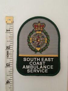 "3""Ambulance Service South East Coast Woven Vel Hook Backed Patch Badge"