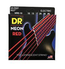 DR Strings Guitar Strings Electric Neon Red 10-46 Medium