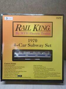 MTH Rail King 1970 4-Car Subway Set NY Transit Authority W/Pass Sounds