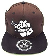 Marijuana Snapback Cap Hat Cartoon Hand Kush 420 Blunt  Brown Black NWT