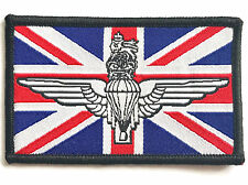 PARA WINGS UNION JACK PATCH sew on British military embroidered flag badge R/W/B