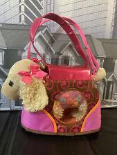 "Battat Pucci Pup Plush Cocker Spaniel Puppy Dog Pink Bow Stuffed Animal Tan 10"""