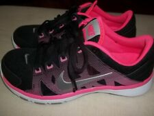 New listing Wmn's Nike Flex Supreme TR 2 Cross Trainer Fitness Athletic Shoes Black Pink 7.5