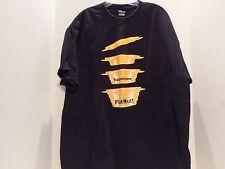 TUPPERWARE FLAT OUT BOWLS PROMO T-SHIRT (XL) BLACK- HANES- VERY RARE PROMO