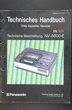 Original Técnico Manual Panasonic NV-8600-E Técnicos Descripción! o50