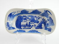 ANTICO VASSOIO PORCELLANA ORIENTALE BIANCO E BLU ANTIQUE CHINESE PORCELAIN TRAY