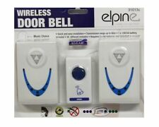 White Twin Set Cordless Door Bell 36 Melodies Chimes Wireless  80m Range Quality