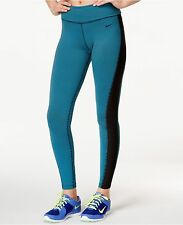 New NIKE Legend 2.0 Fold-Over Waistband Womens Training Tights 685838-407 $75 XL