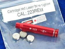 CAL .223 REM Red Laser Bullet Shaped Bore Sighter Cartridge Aluminium