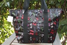 Music Note Insulated Tote Bag Band Travel Beach Shopping Musical Thermal NEW