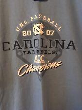 UNC Tar Heels Baseball Shirt NWT 2007 ACC Champions NEW Carolina Tee Tarheels NC