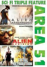 Area 51: Alien Armageddon/Alien Uprising/Total Retribution (DVD, 2015)