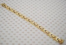 Vintage 14k Yellow Gold Stunning Classic Link Bracelet Italy 7 3/8'' W. 16.3 g.