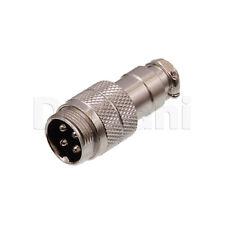 10101510179 Circular Cable Connector 4 Pin Male Silver