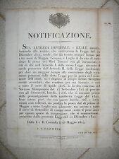 V889-TOSCANA-DIVIETO DI PESCA IN MARE-CALENDARIO 1824
